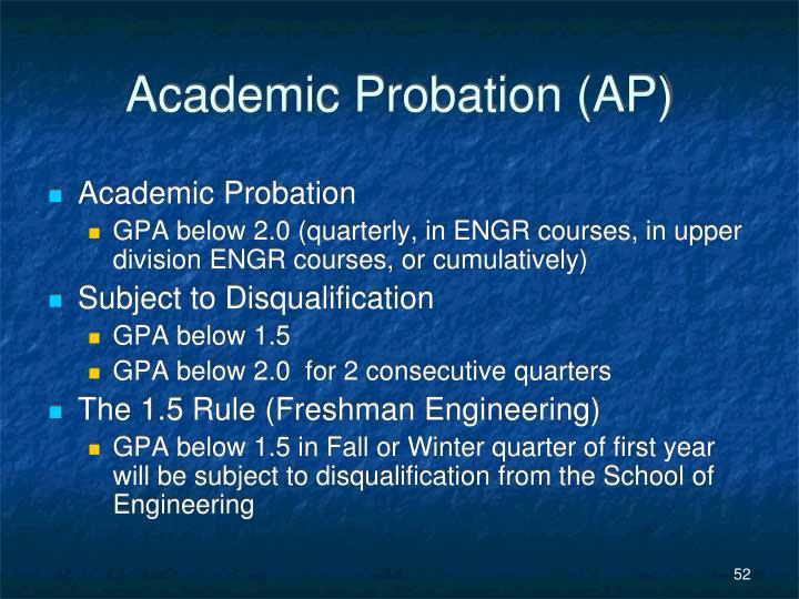 Academic Probation (AP)
