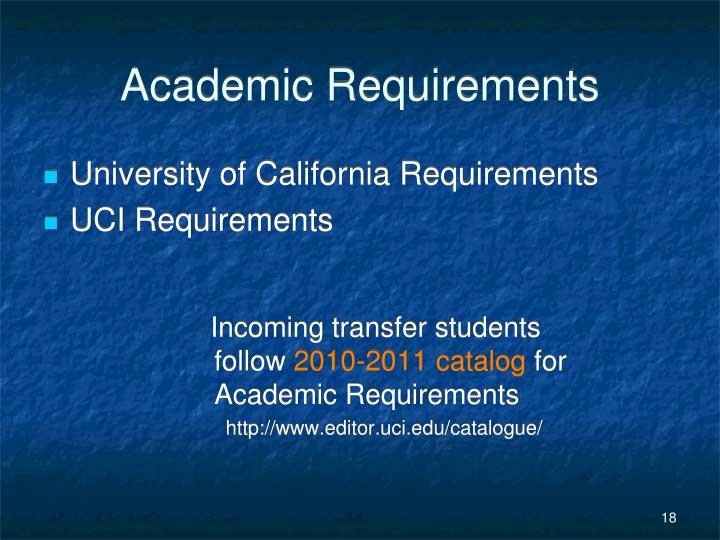 Incoming transfer students follow