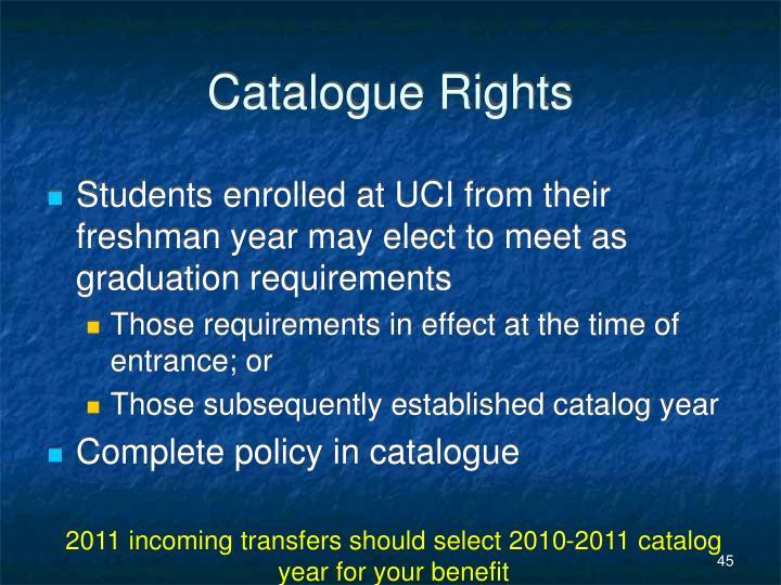 Catalogue Rights