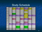 study schedule4