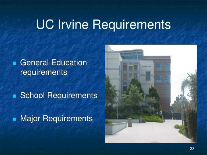 UC Irvine Requirements