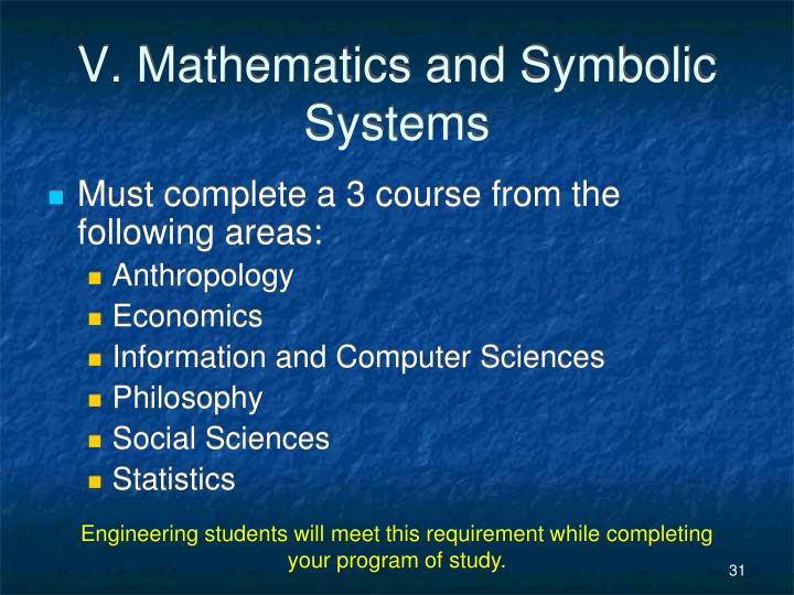 V. Mathematics and Symbolic Systems