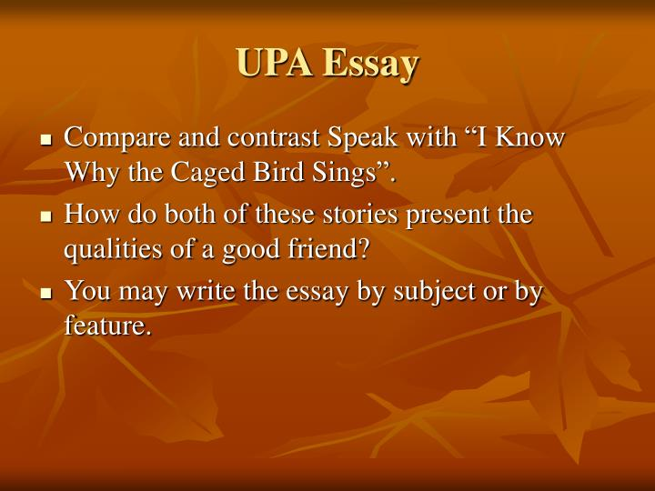 UPA Essay