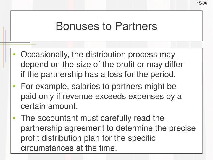 Bonuses to Partners