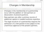 changes in membership