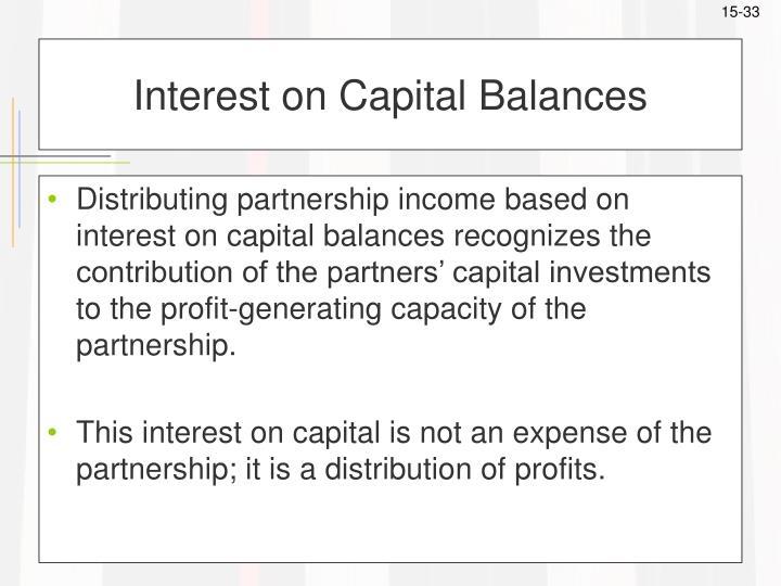 Interest on Capital Balances