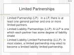 limited partnerships1