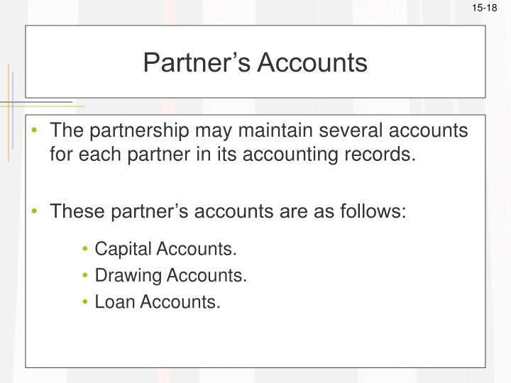 Partner's Accounts