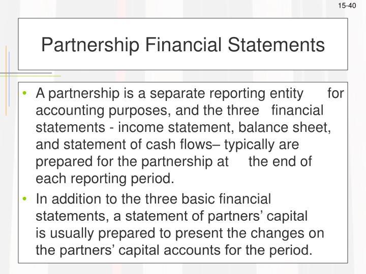 Partnership Financial Statements
