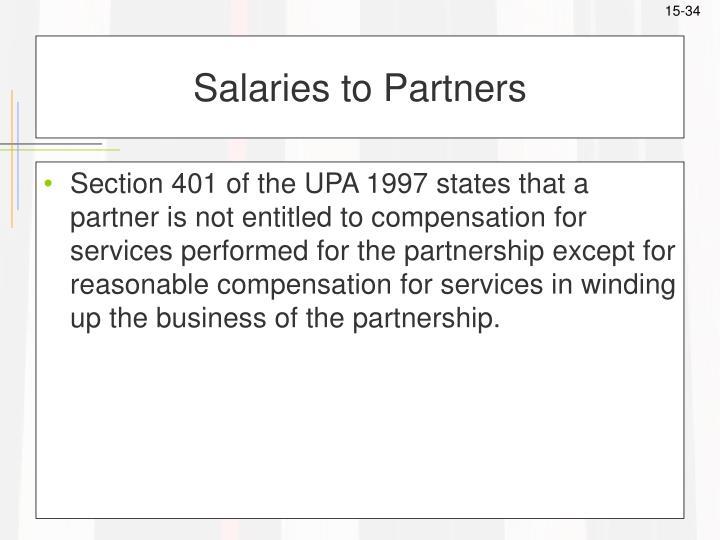 Salaries to Partners