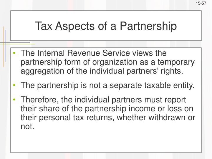 Tax Aspects of a Partnership