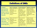 definitions of smes