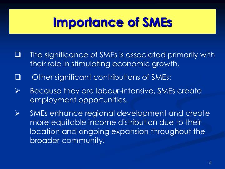 Importance of SMEs