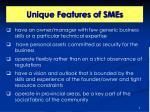 unique features of smes