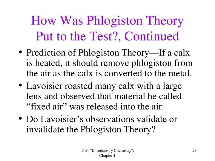 How Was Phlogiston Theory