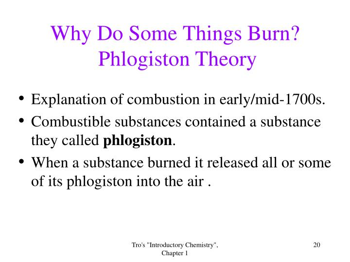 Why Do Some Things Burn?