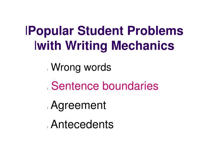 Popular Student Problems