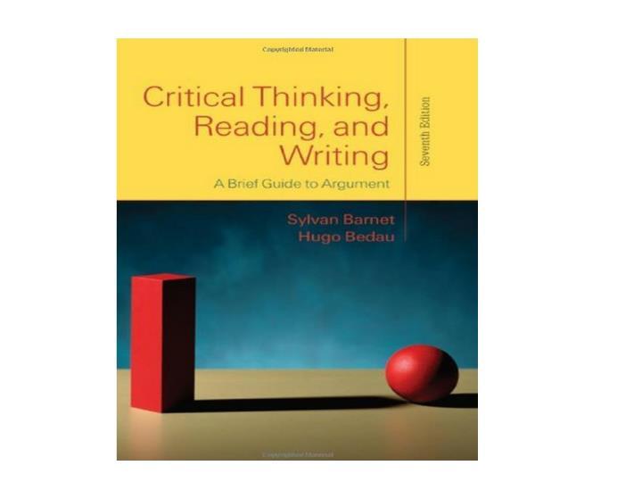 Crit Thinking   Barnes/Bedau Cover