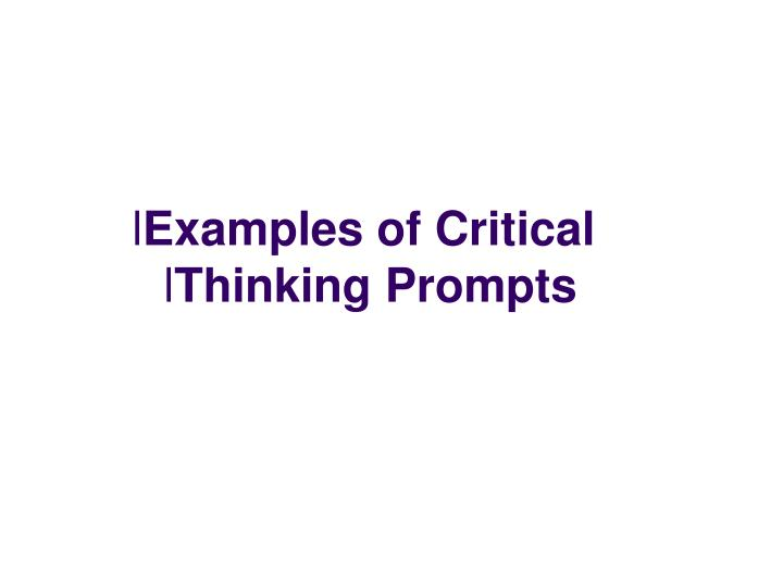 Examples of Critical