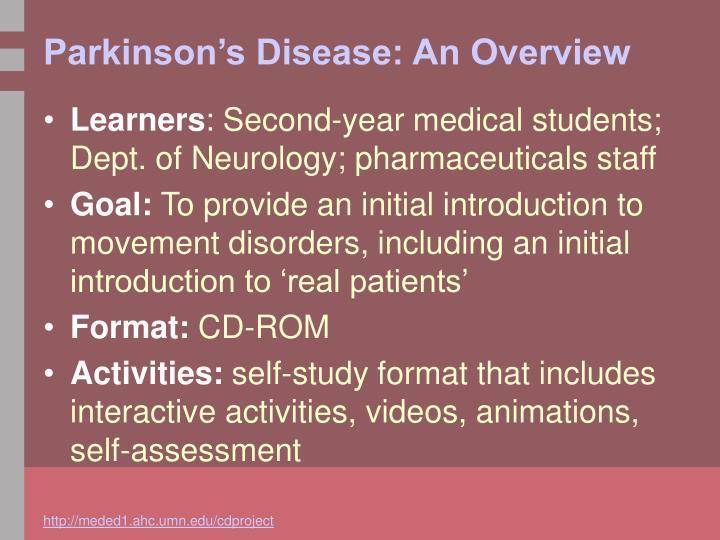 Parkinson's Disease: An Overview