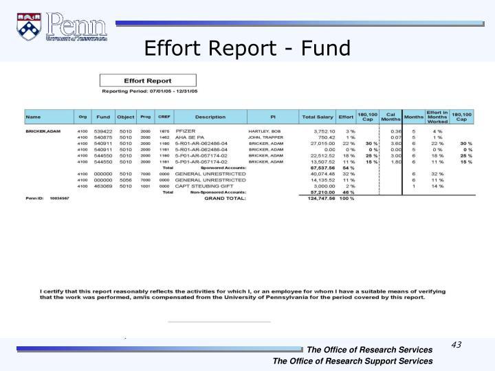 Effort Report - Fund
