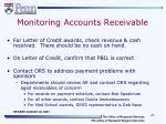 monitoring accounts receivable