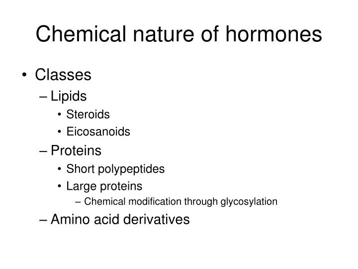 Chemical nature of hormones