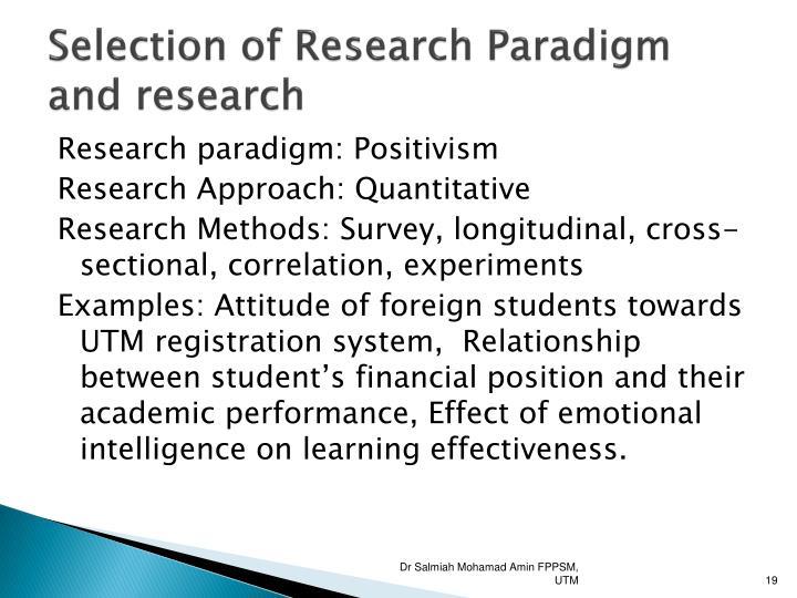 Research philosophy positivism
