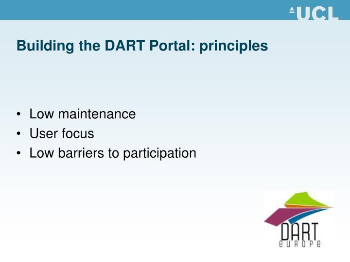 Building the DART Portal: principles