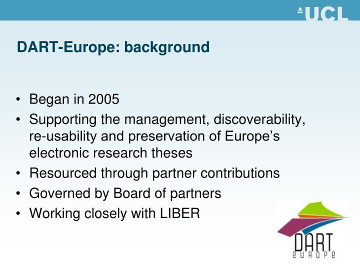 DART-Europe: background