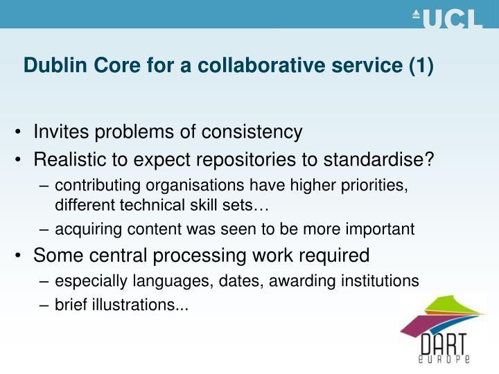 Dublin Core for a collaborative service (1)