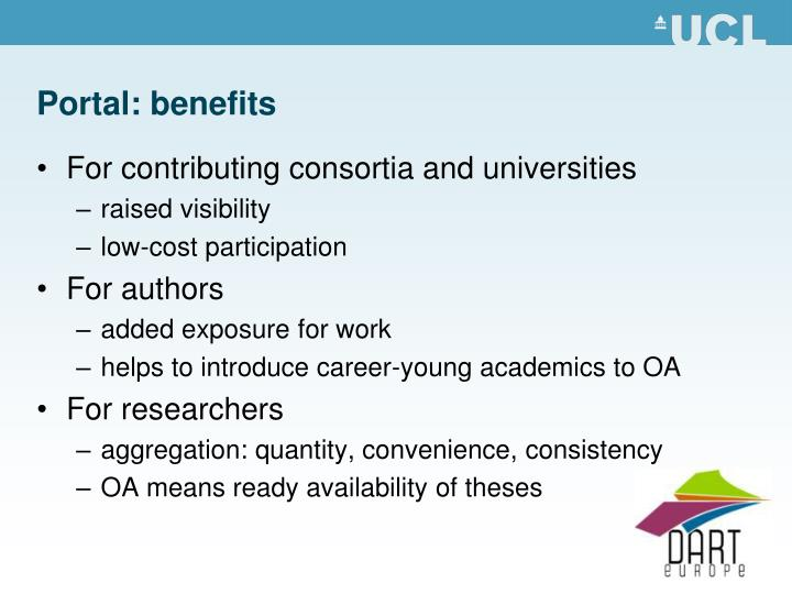 Portal: benefits