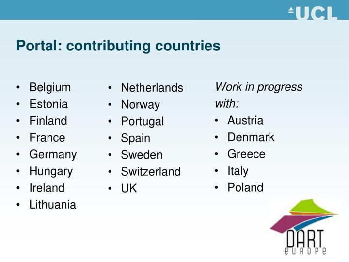 Portal: contributing countries