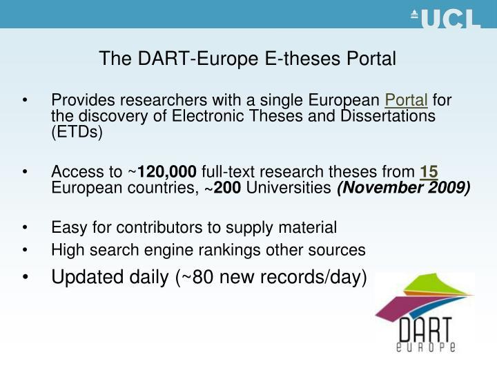 The DART-Europe E-theses Portal