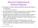 electron configuration element properties