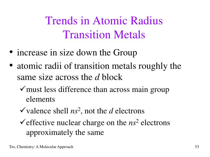 Trends in Atomic Radius