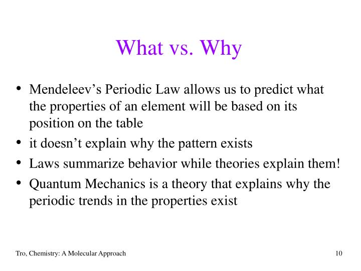 What vs. Why