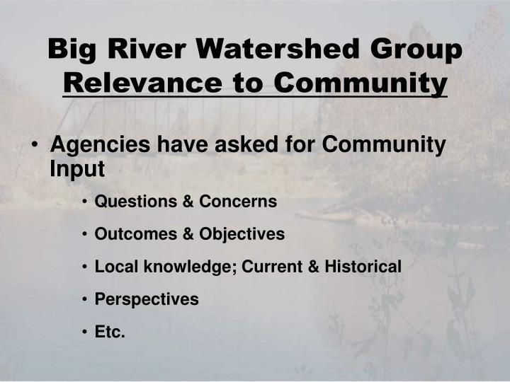 Big River Watershed Group