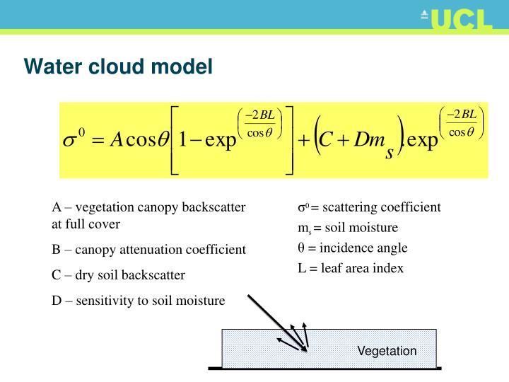 Water cloud model