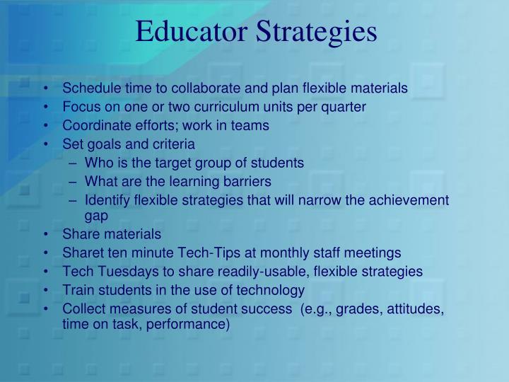 Educator Strategies