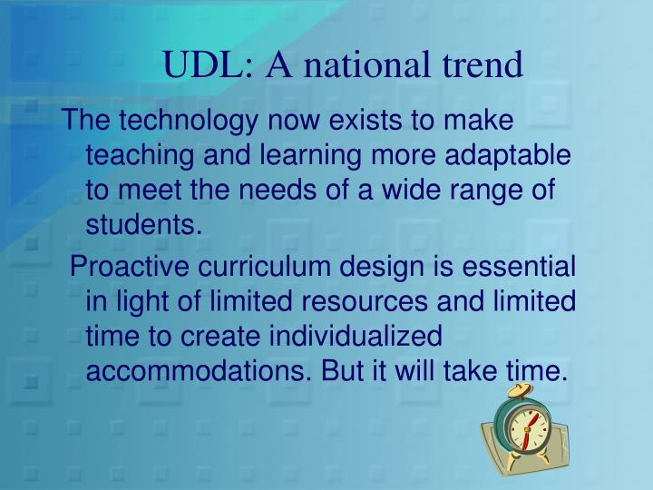 UDL: A national trend
