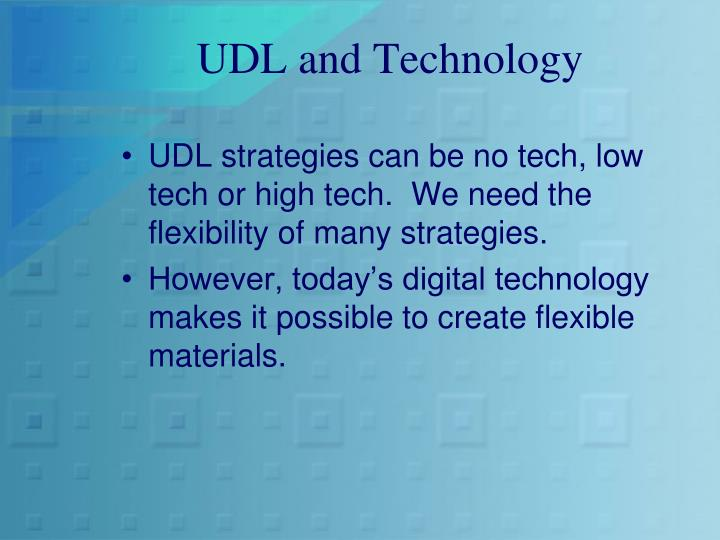 UDL and Technology