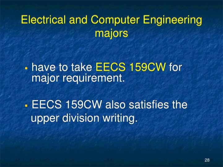 Electrical and Computer Engineering majors