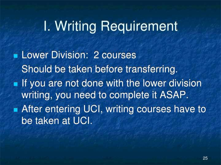 I. Writing Requirement