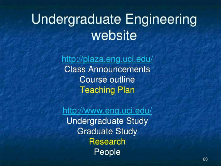 Undergraduate Engineering website