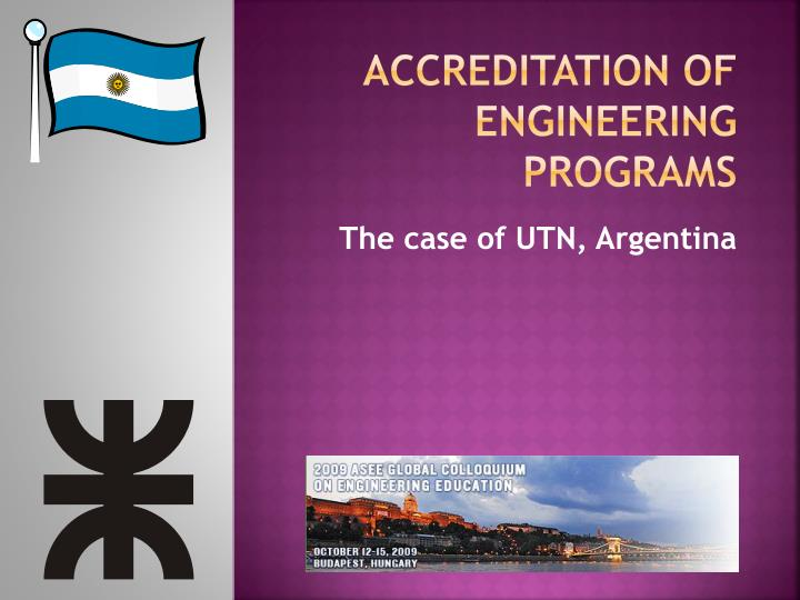 Accreditation of Engineering Programs