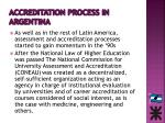 accreditation process in argentina