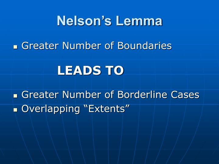 Nelson's Lemma