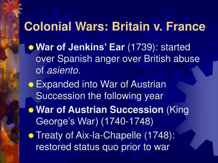 Colonial Wars: Britain v. France