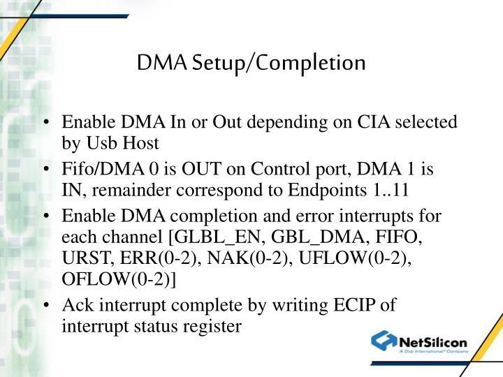 DMA Setup/Completion